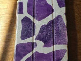 Samsung Galaxy Tab 4 w/ purple and white case