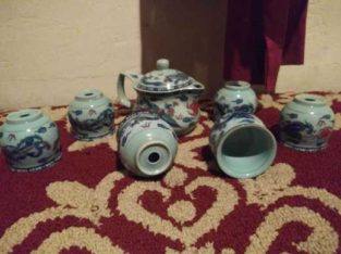 6 piece Chinese tea set
