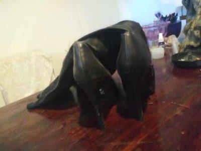Jennifer Lopez high heel Lehigh boots