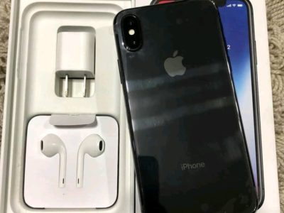 Black iPhone xs max with box