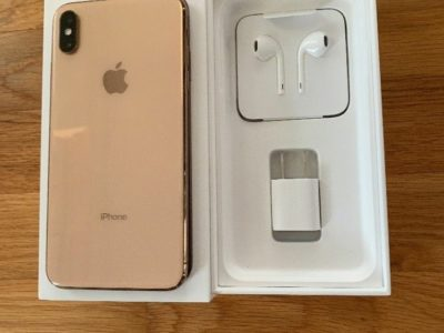 Gold iPhone xs max 256gb with box unlocked for all