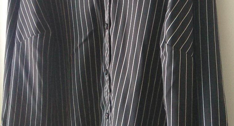 Kim Rogers Black and White Stripped 2X Blouse
