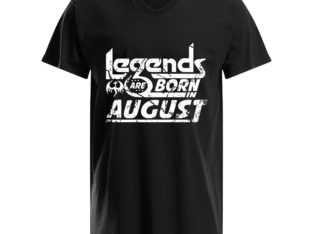 Legends Are Born in August Slim Fit T-Shirt