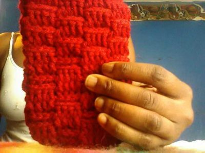 Handmade crochet phone case pouch
