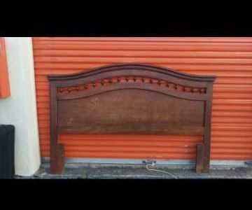 vintage 7 ft long king size wooden head board