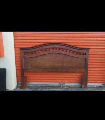 vintage 7 ft long king size wooden head board