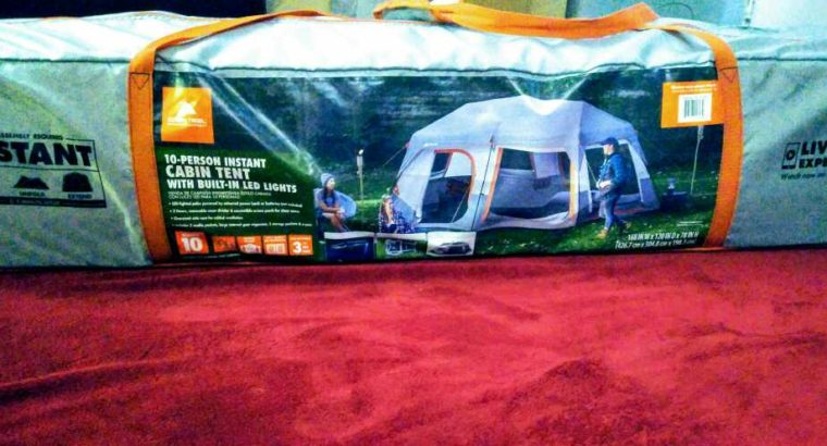 10 Person Cabin Tent with LED Lighting