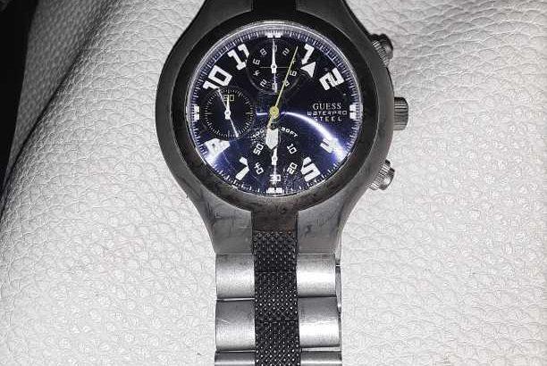 mens water resistant steel watch