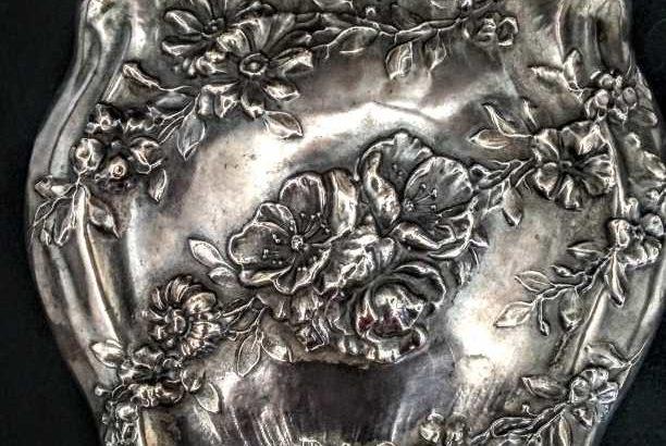 19th century Silver Handmirror