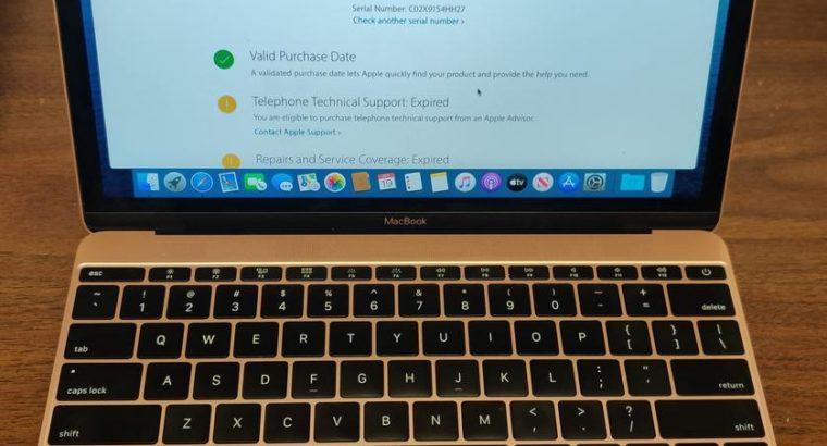 Near Mint 2017 12″ Retina MacBook 256gb