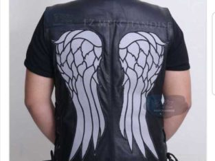 GREAT BLACK LEATHER VEST
