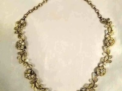 RARE 1920s VINTAGE CORO SIGNED CHOKER NECKLACE