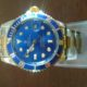 FREE S&H! Awesome 2tone Rolex Sub. watch