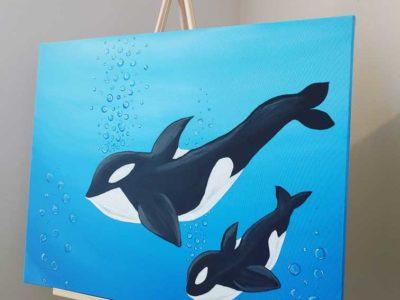 painting acrylic handemade