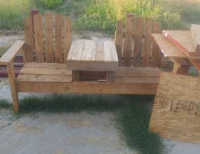 a 2 chair bench