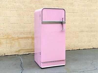 1950s Pink Fridgedaire Refrigerator, Functional
