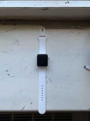 Apple Watch Series 3 GPS 42mm Silver Aluminum Case White Sport Band – MTF22LL/a