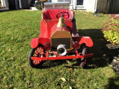 Model T Fire Car & Bubble Light-up Trailer