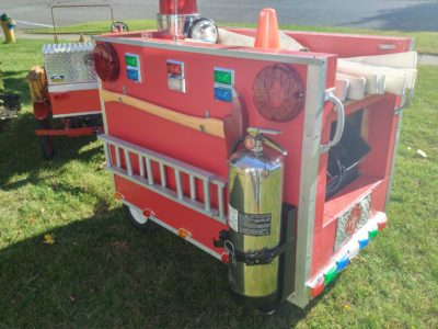 Model T Fire Car & Bubble Light-up Trailer