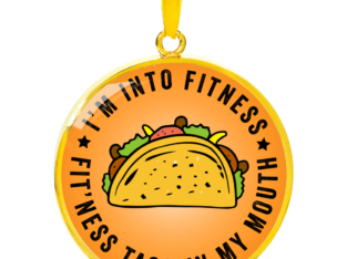 Fitness Taco Funny Pendant Necklace for Taco Lover