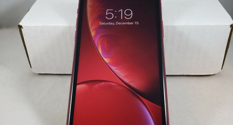 Apple iPhone XR – 64GB – (PRODUCT)RED (Unlocked)