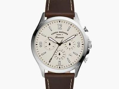 Fossil Man Forrester Chronograph Brown Leather Watch