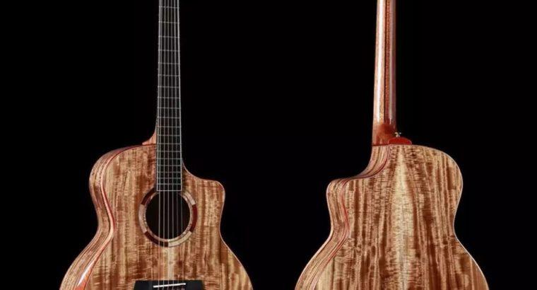 2019 Lechant All solid KOA wood acoustic Guitar,