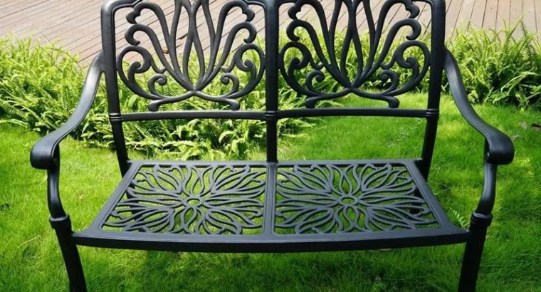 2-person cast aluminum anti-rust heavy duty patio
