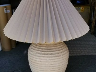 Ceramic Lamp with pleated shade