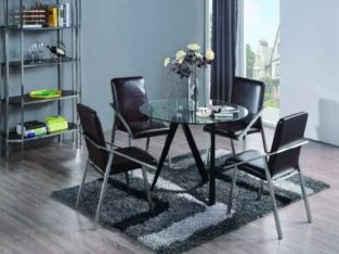European Style Dining Room Furniture Stainless Steel and Nature Marble Table