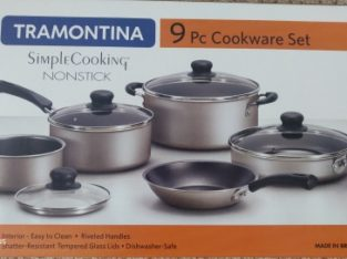 New 9 piece Nonstick cookware set$35