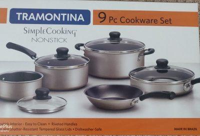 New 9 piece Nonstick cookware set$35