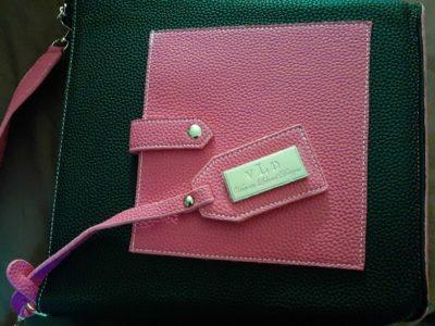 v.L.D Victoria Leland design pink and black purse