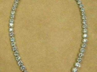 14k diamond cut necklace