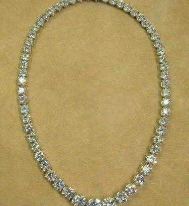 14k diamond cut necklace