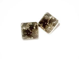 BEE HIVE GOLD AND BLACK EARINGS