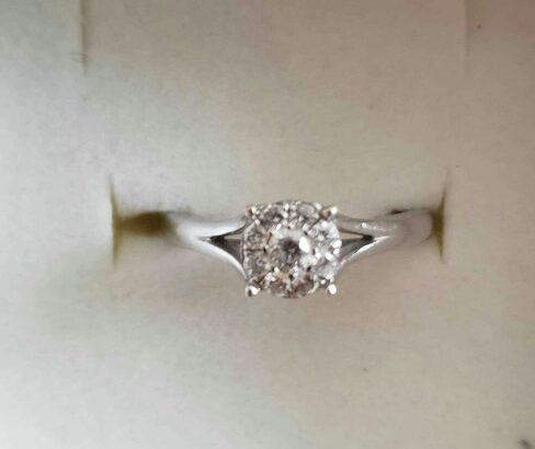 engagement ring pure diamond