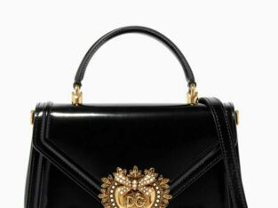 75% discount Dolce and Gabbing Devotion Medium Leather Bag