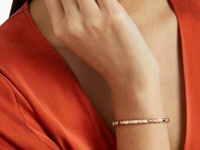 Give away Price. BVLGARI Serpenti Viper Diamond Pavé Bracelet in 18kt Rose Gold