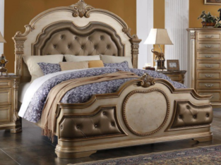 Infinity Panel Bed (Gold)