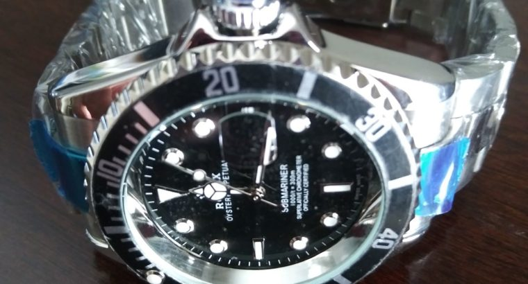 CLASSIC! All blk Rolex Sub. watch