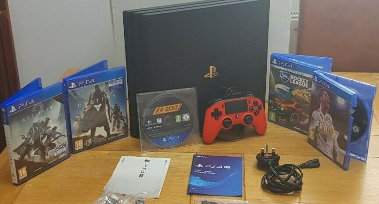 Sony Playstation PS4 PRO 1TB Console + 5 games