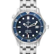 Omega Seamaster James Bond 36 Midsize Blue Wave Dial Watch 2561.80.00