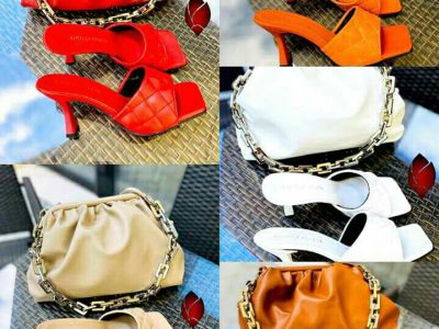 shoes and hand bag