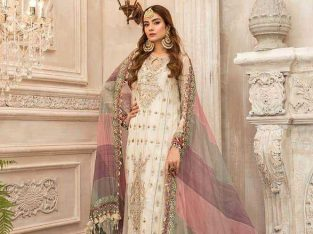Pakistani paRty wear dresses chiffon fabric