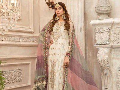 Pakistani paRty wear dresses chiffon fabric