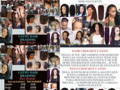 Box braiding  and crochet hair services