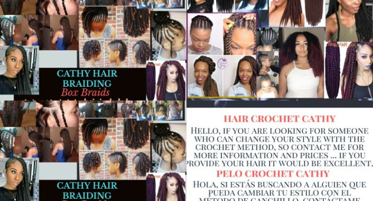 Box braiding  and crochet hair services