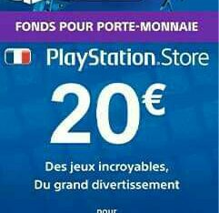 Carte PSN Frensh 20 Euro