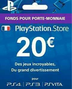 Carte PSN Frensh 20 Euro